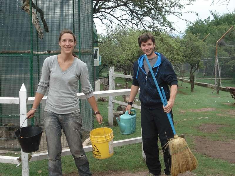 Volunteers auf dem Tierpark