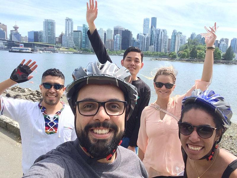 Mit Freunden in Vancouver