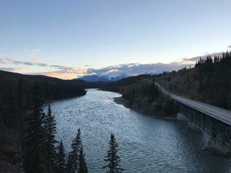 Fluss in Alberta